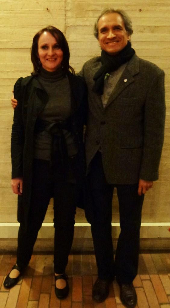 Mit Julio Paredes nach der Lesung in der Bibliothek Virgilio Barco