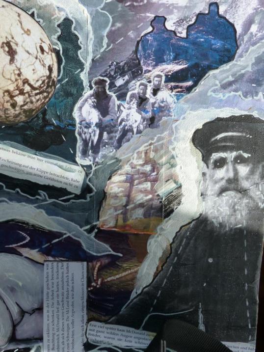 """Ausschnitt aus dem Moodboard """"Die Auslöschung"""" zu einer Geschichte, die im 19.Jh. auf den äußeren Hebriden spielt"""